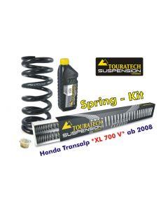 Progressive replacement springs for fork and shock absorber, Honda XL 700V Transalp from 2008
