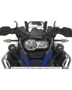 Set of LED auxiliary headlights fog right/full beam headlight left for BMW R1200GS Adventure from 2014, black