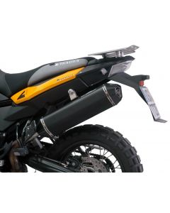AC Schnitzer Stealth rear silencer, black, street legal, for BMW F800GS / F800GS-ADV / F700GS from 2017