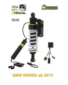 """Touratech Suspension """"rear"""" shock absorber for BMW F850GS from 2018 DDA / Plug & Travel"""