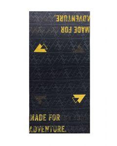 "Multi functional head cloth ""Essential"", black/yellow"